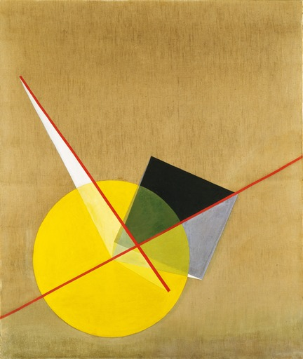 László Moholy-Nagy Yellow Circle (1921), color forms in Bauhaus style.