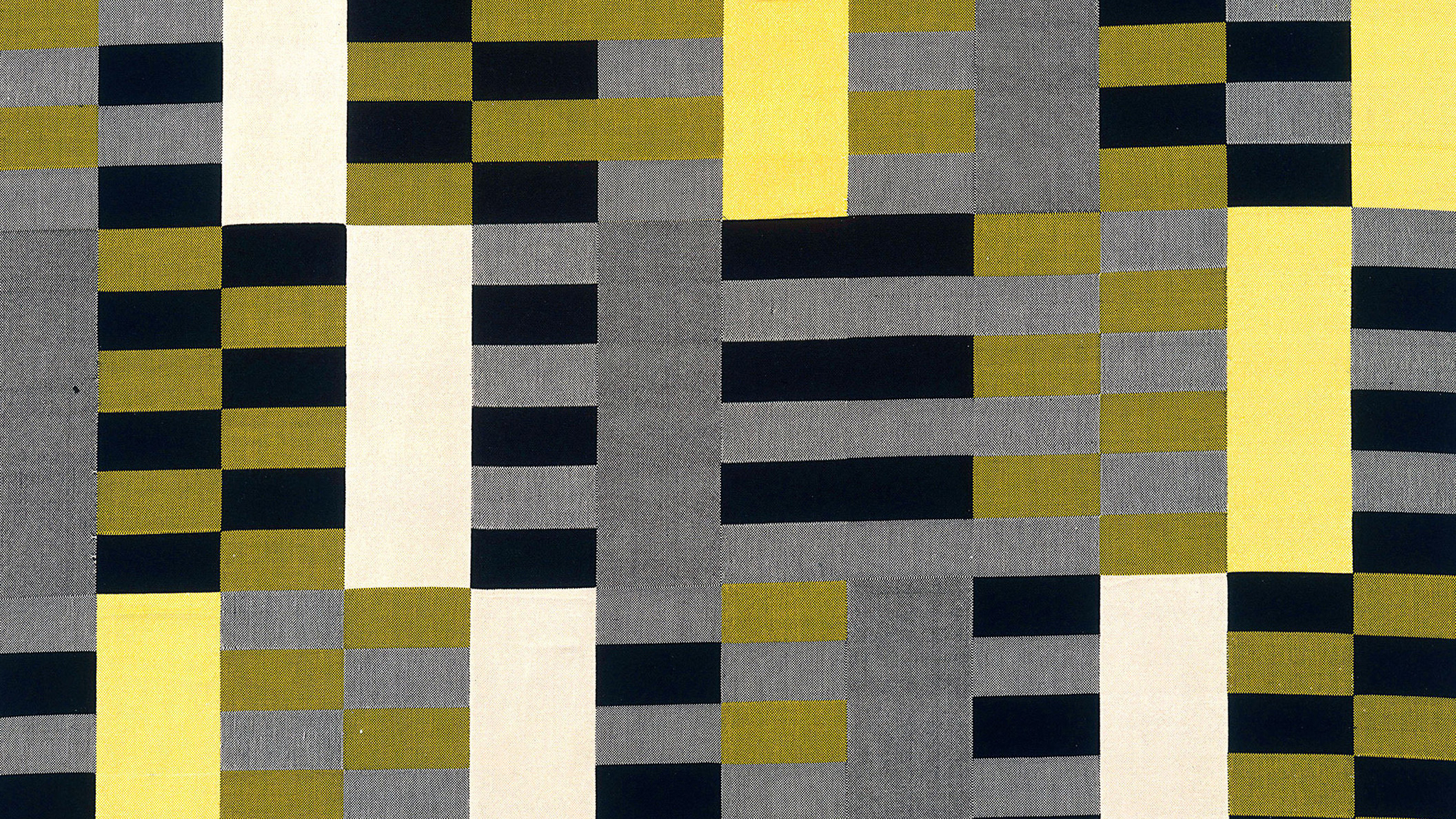 Anni Albers: Black White Yellow, color pattern under Bauhaus influence.