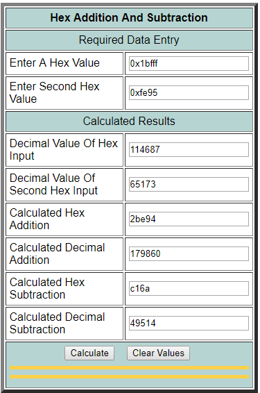 "added '1"" to hex value"