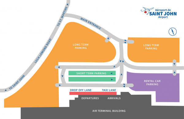 Saint John Airport Parking Map