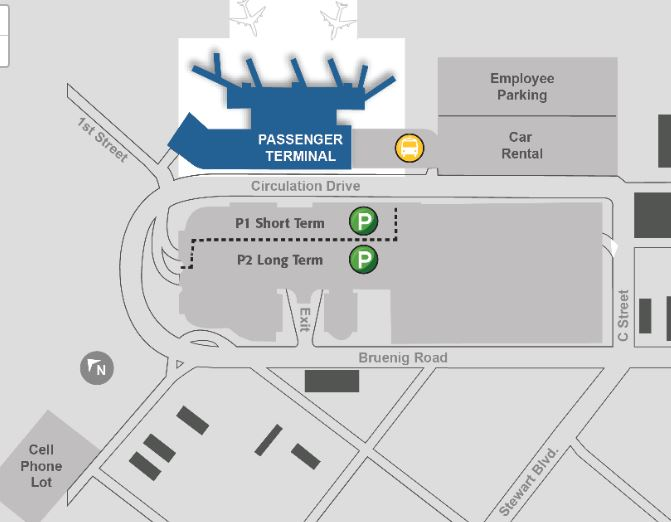 Stewart Airport Parking Map