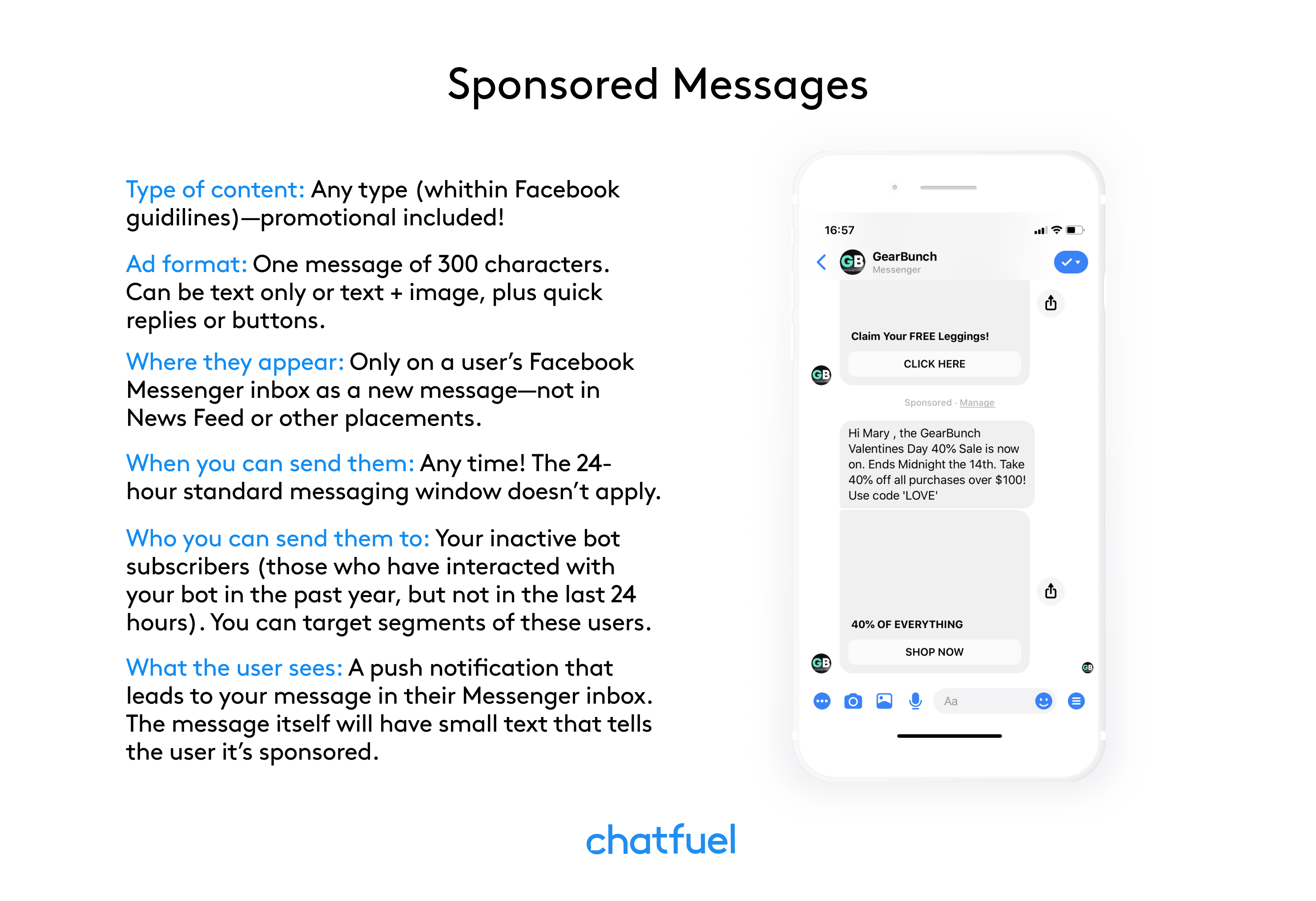 Sponsored Messages 101: A Complete Guide to Reengaging Chatbot Subscribers